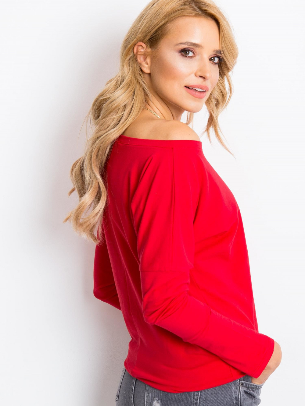 Czerwona bluzka ze ściągaczem Nadir 4