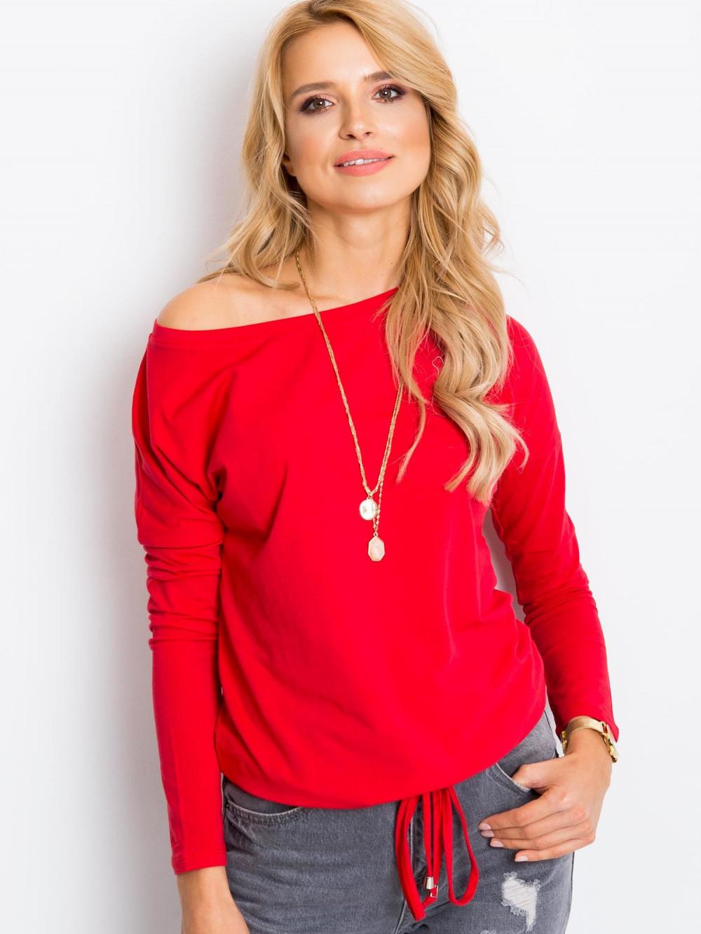 Czerwona bluzka ze ściągaczem Nadir 3