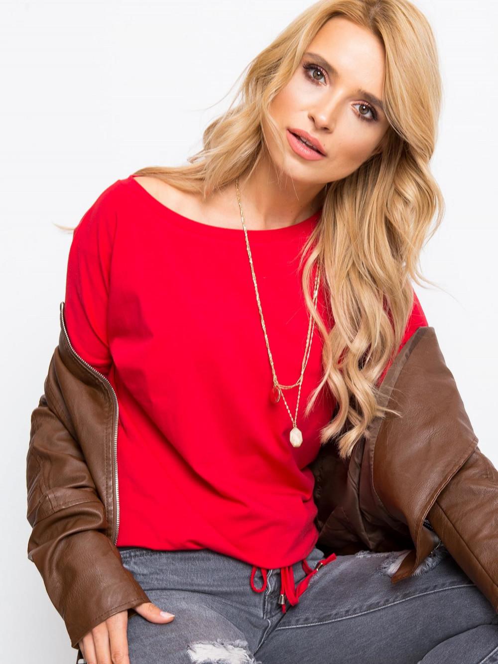 Czerwona bluzka ze ściągaczem Nadir 2