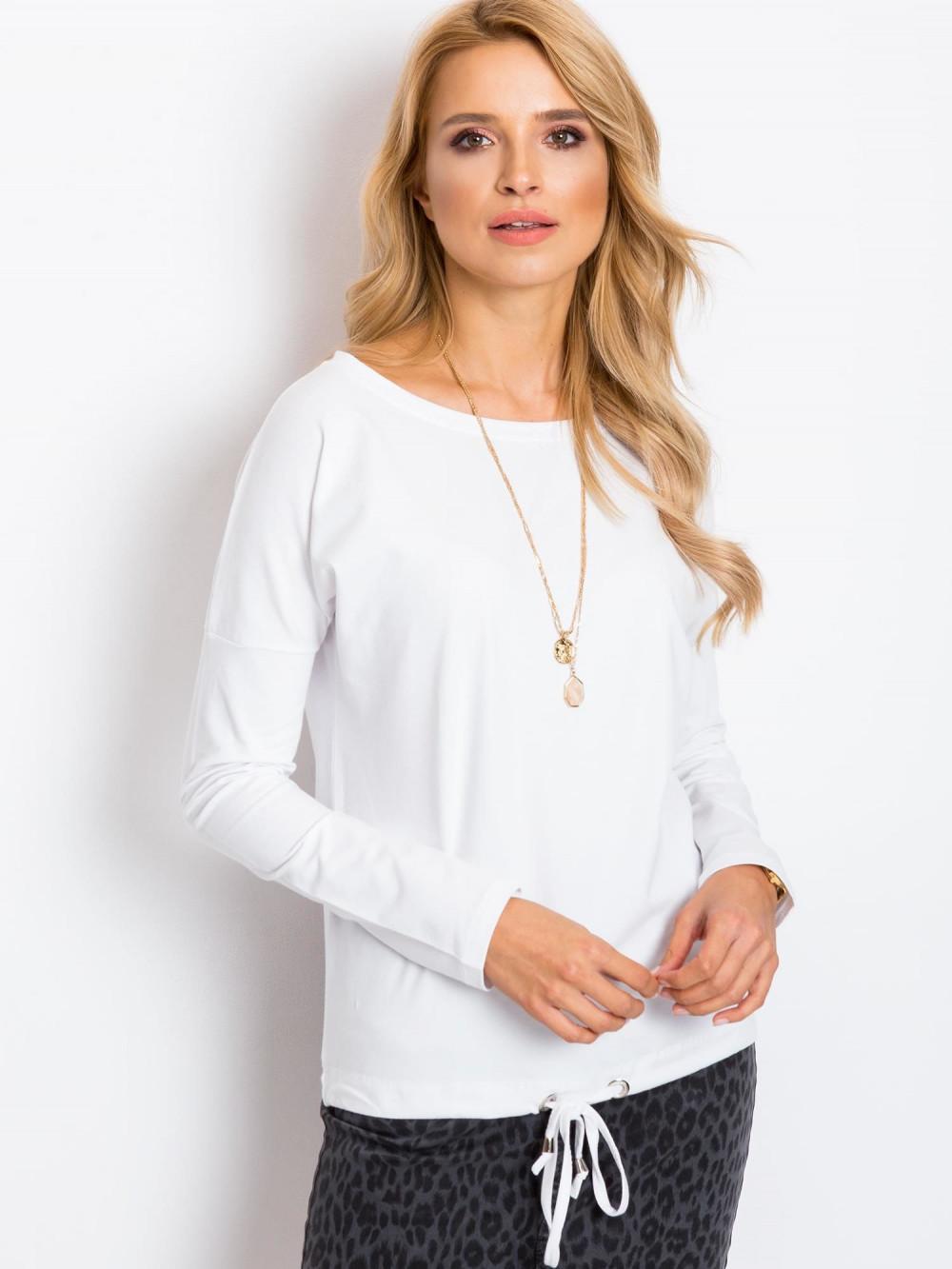 Biała bluzka ze ściągaczem Nadir 2