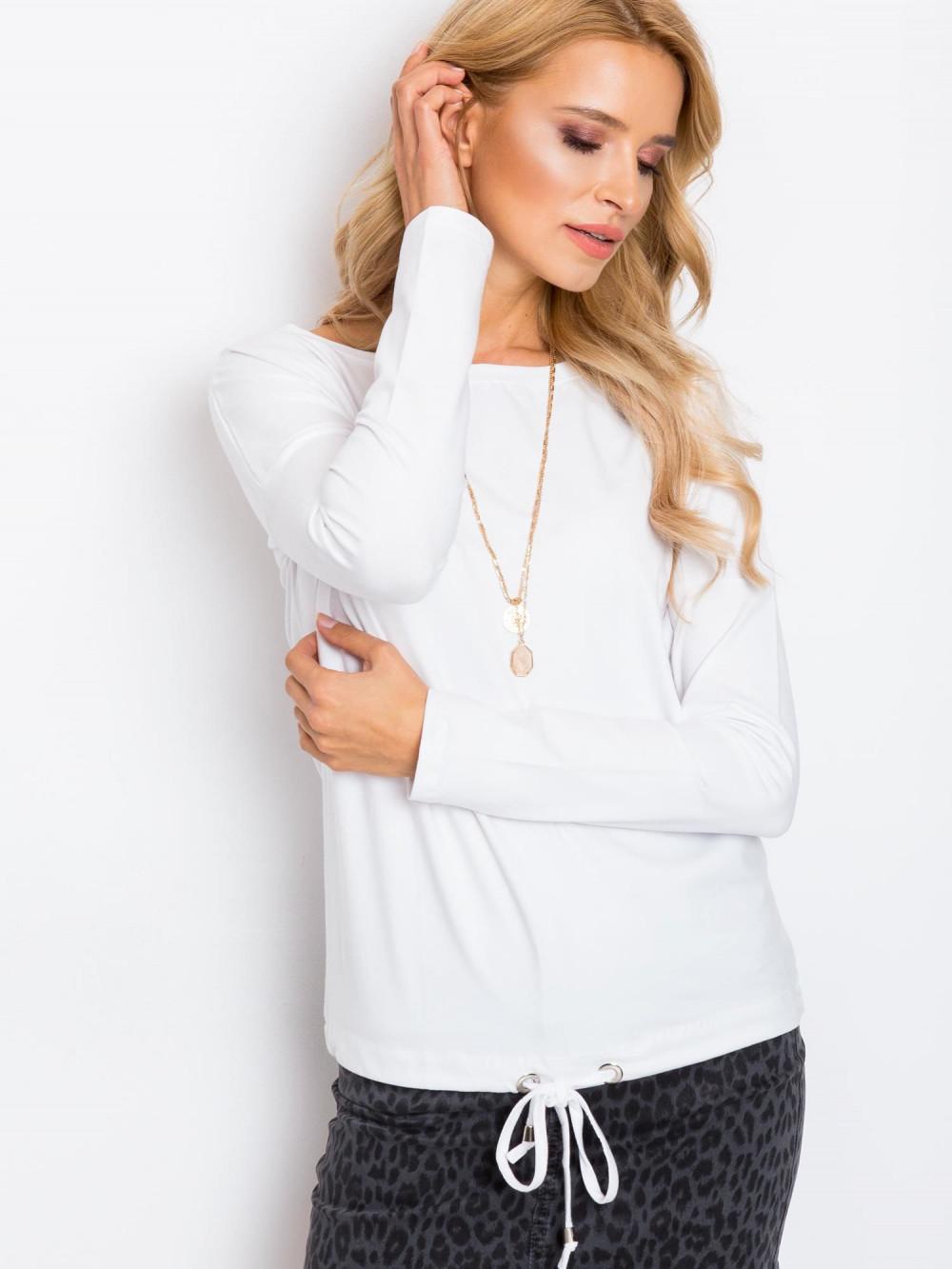 Biała bluzka ze ściągaczem Nadir 3