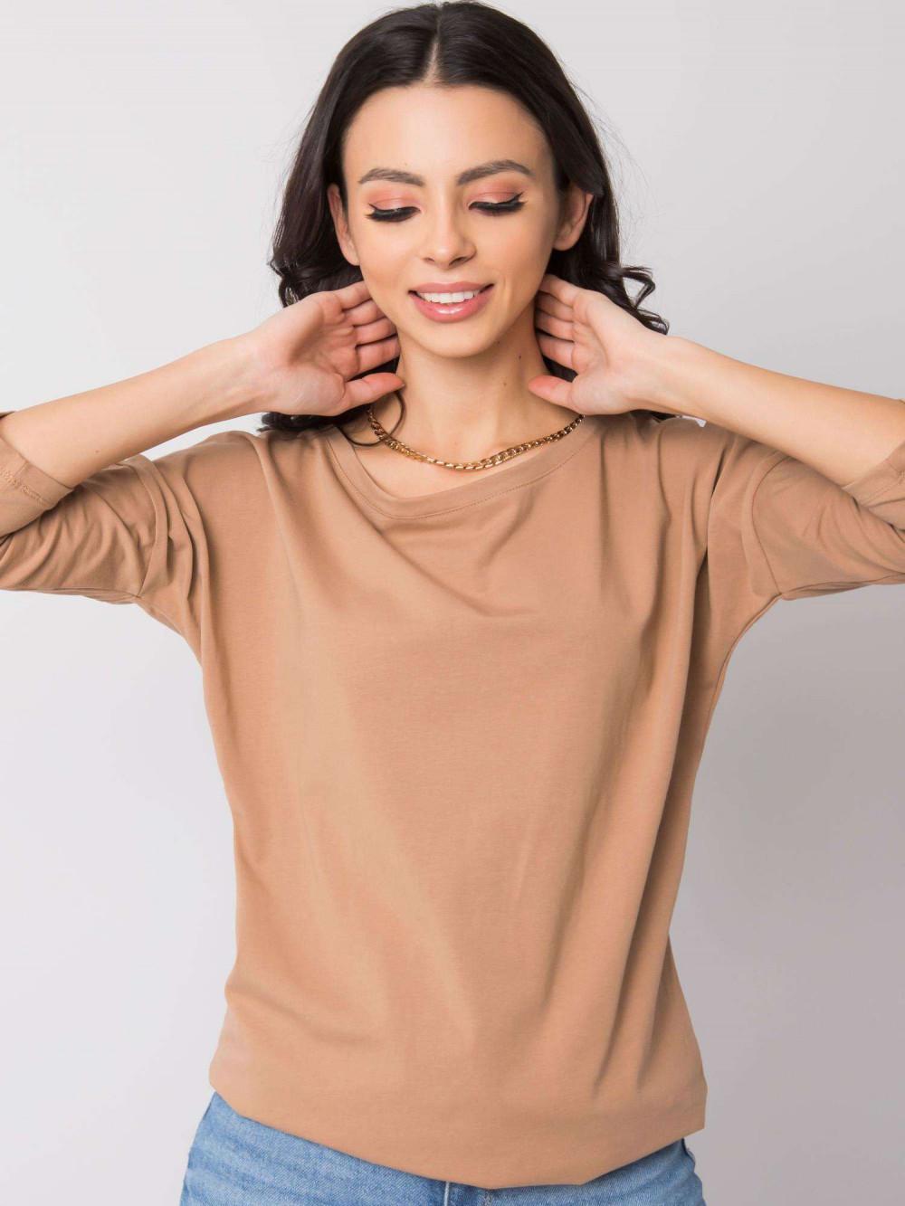 Karmelowa bluzka ze ściągaczem Taurus 3