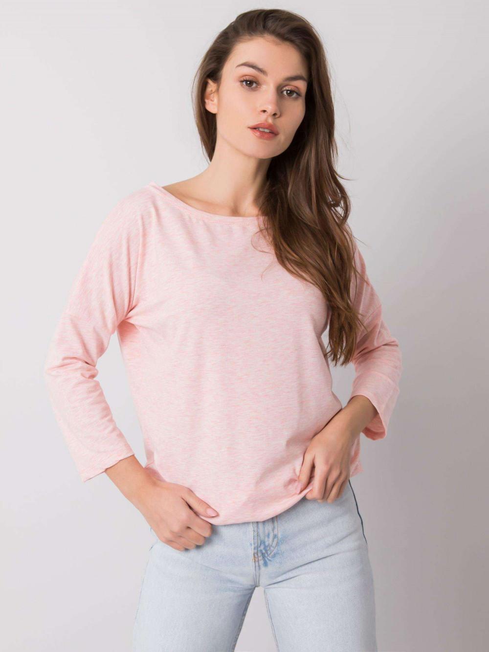 Różowa melanżowa bluzka ze ściągaczem Taurus 2
