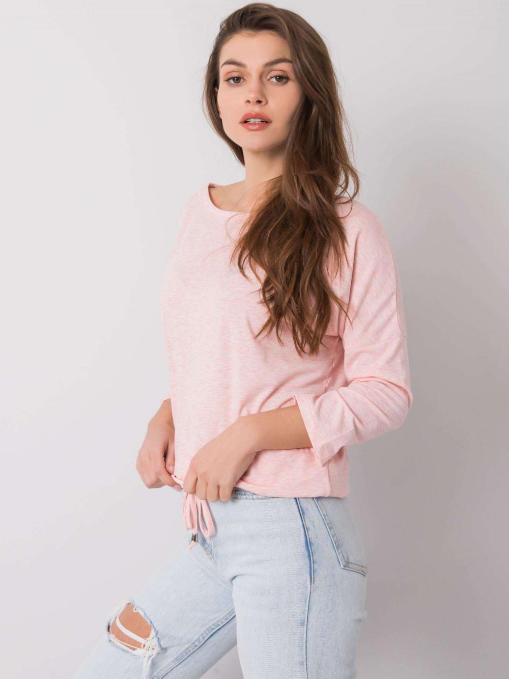 Różowa melanżowa bluzka ze ściągaczem Taurus 3