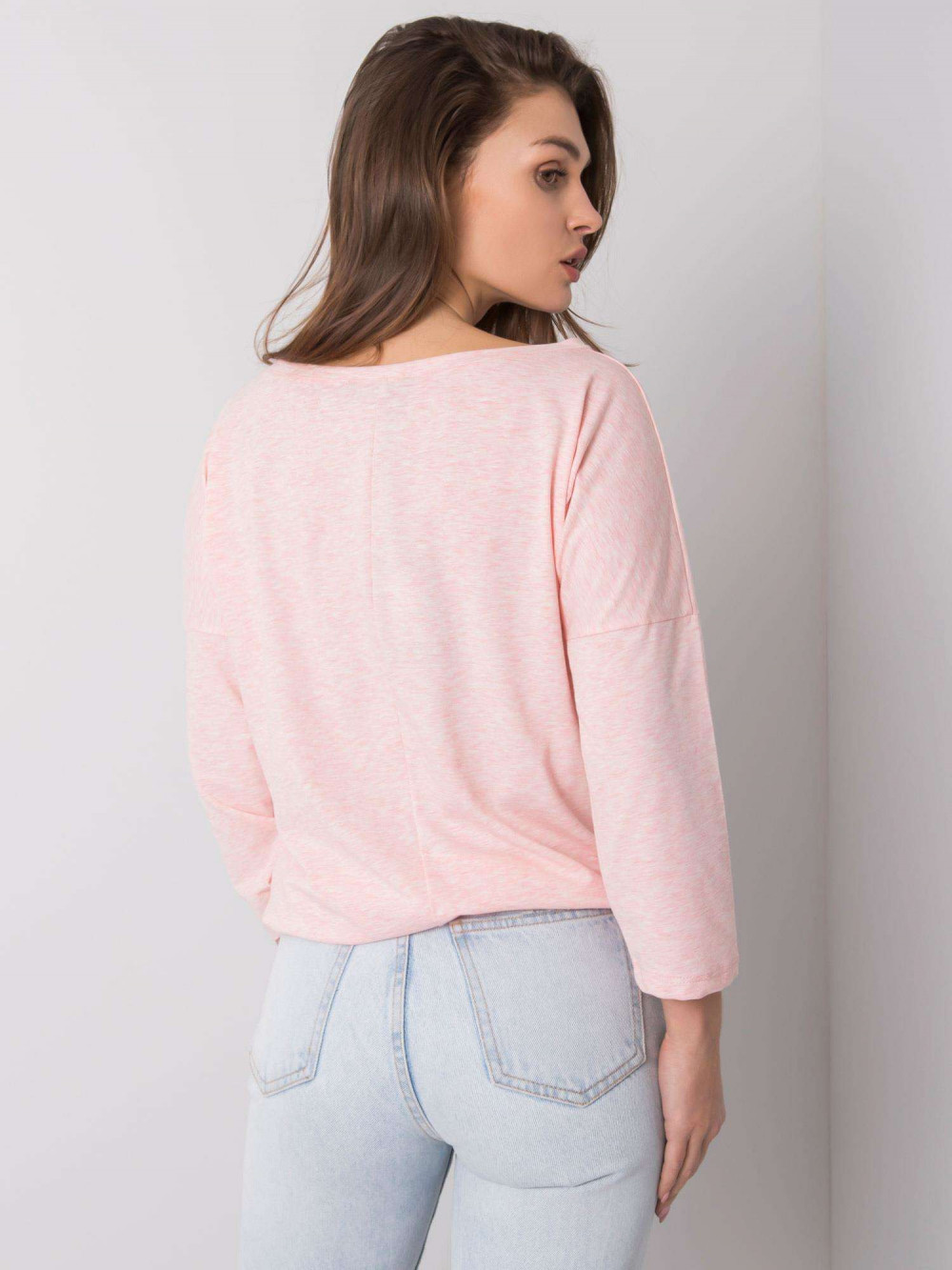 Różowa melanżowa bluzka ze ściągaczem Taurus 4