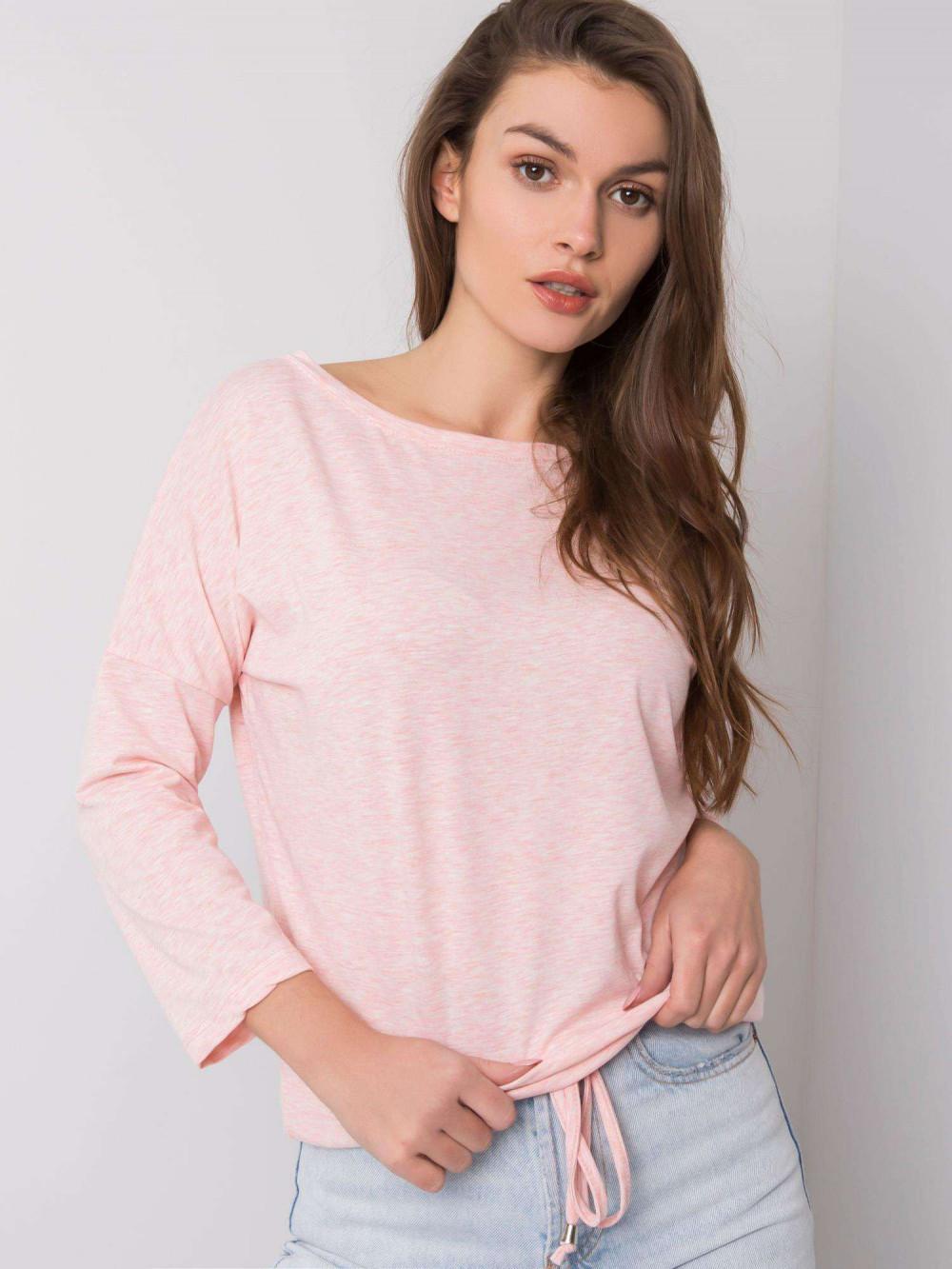 Różowa melanżowa bluzka ze ściągaczem Taurus 1