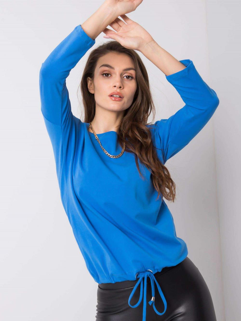 Ciemnoniebieska bluzka ze ściągaczem Taurus 2