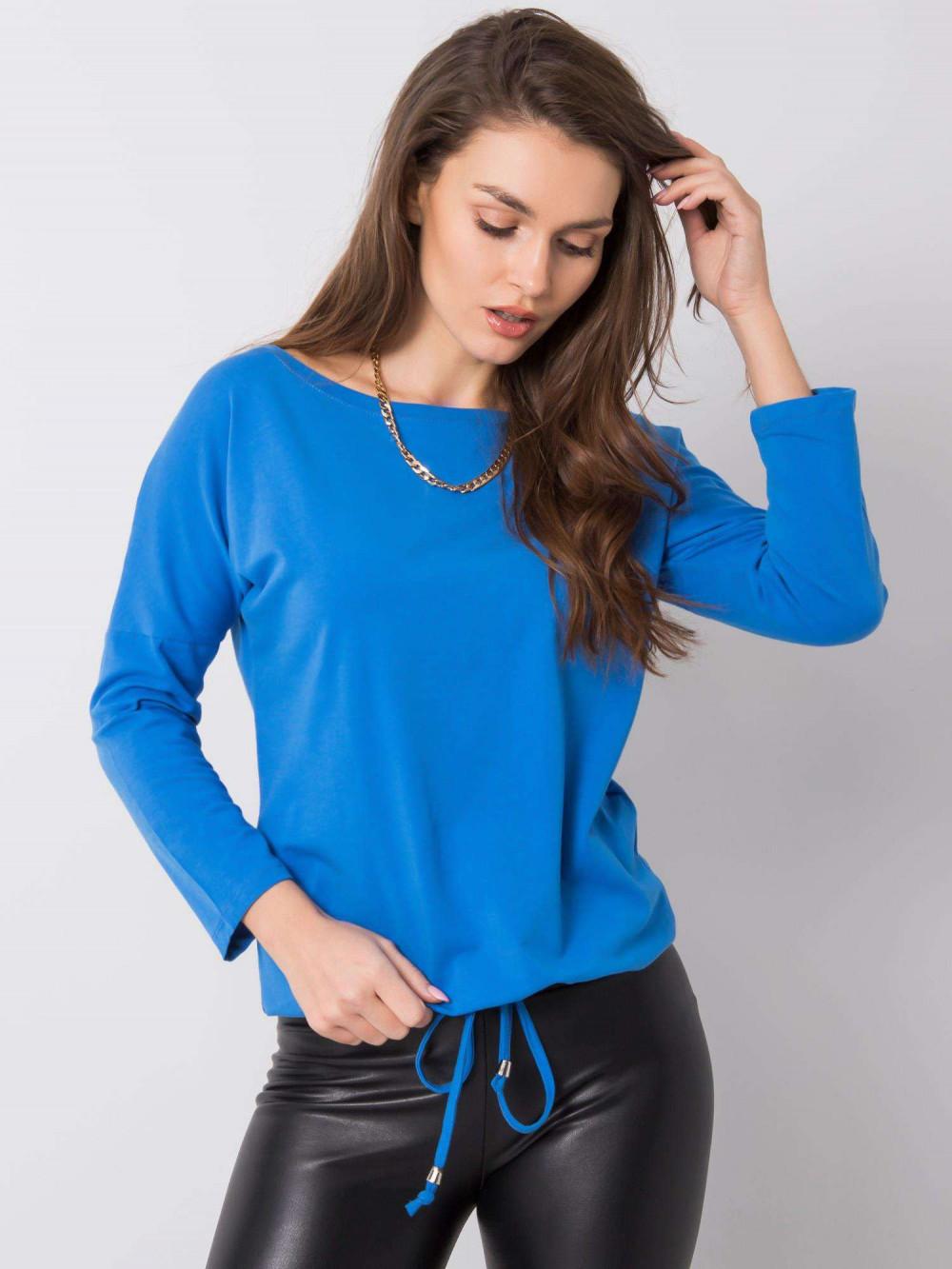 Ciemnoniebieska bluzka ze ściągaczem Taurus 1