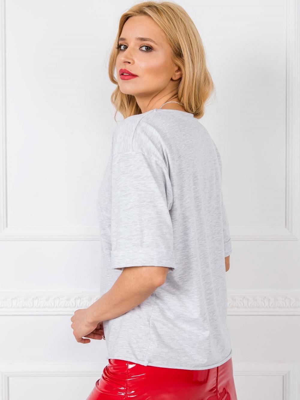 Jasnoszary oversizeowy t-shirt Gimmie 2