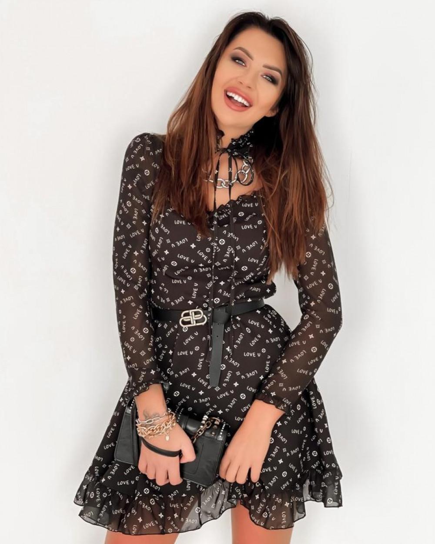 Czarna sukienka szyfonowa Libra 1