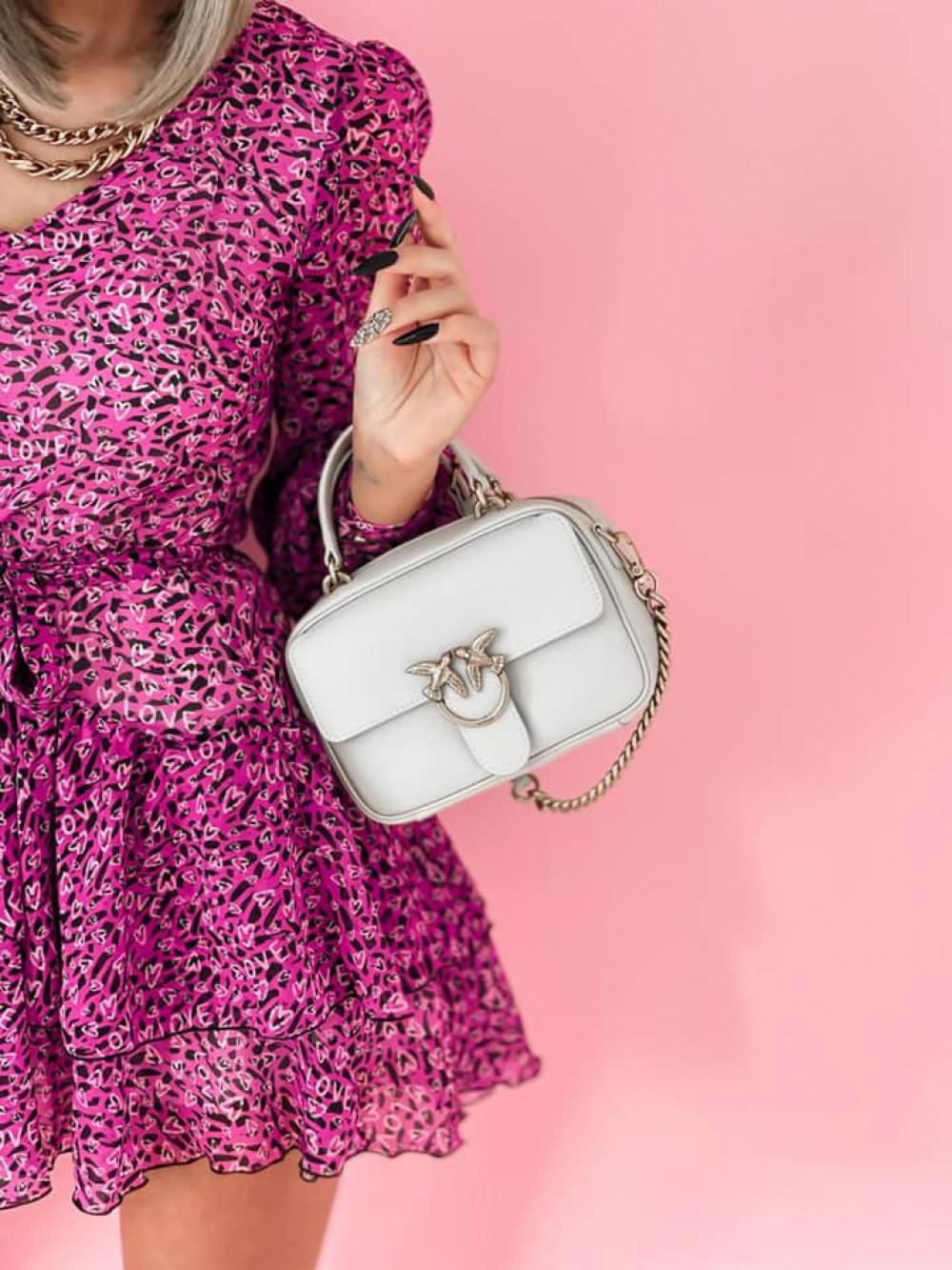 Fuksjowa sukienka szyfonowa rozkloszowana Virgo 6