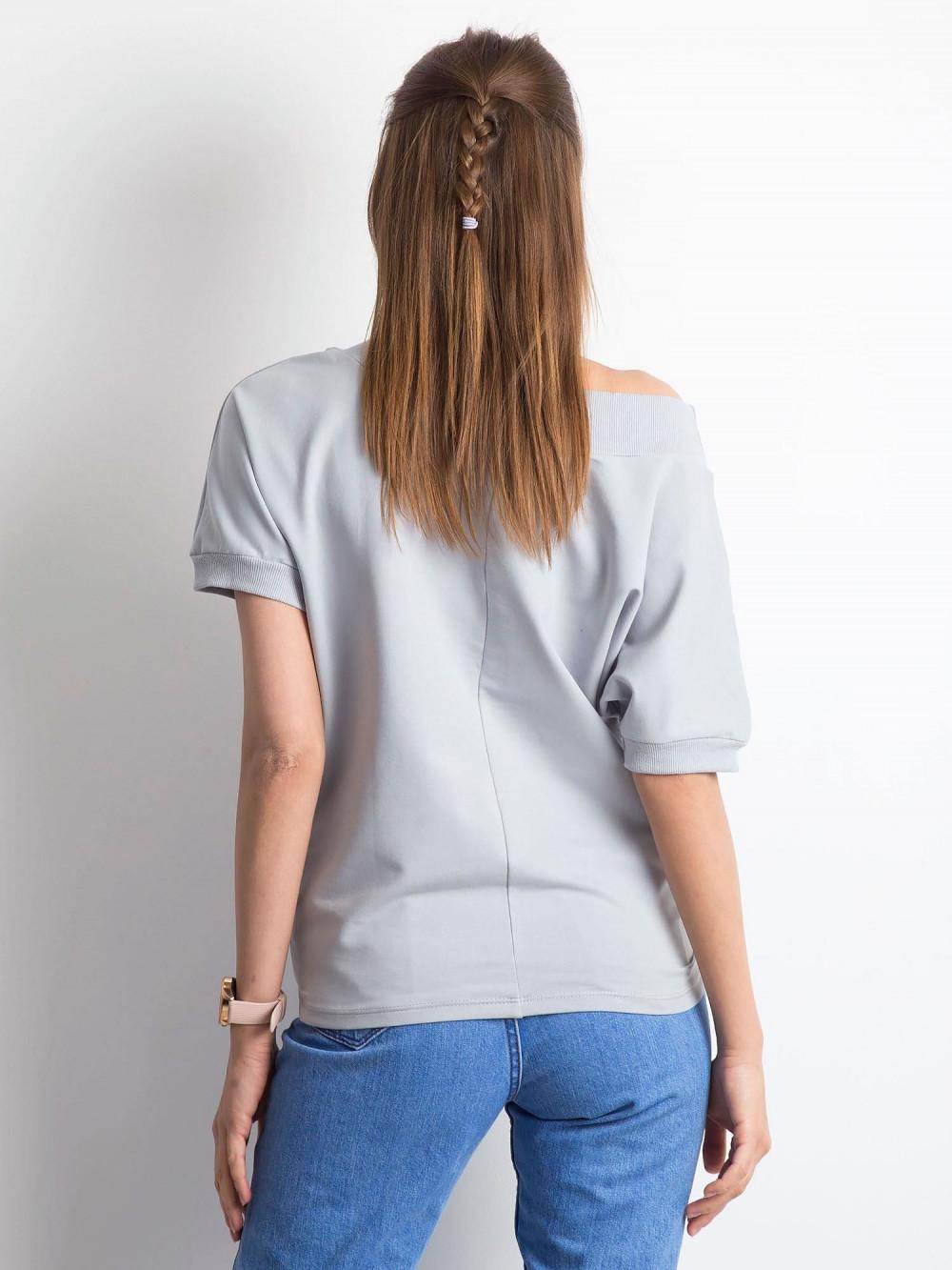 Jasnografitowa bluzka z ściągaczami Mossa 4