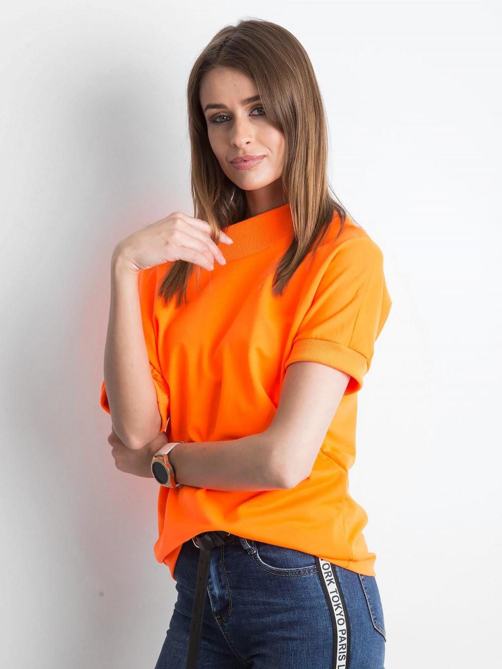 Neonowo pomarańczowa bluzka z ściągaczami Mossa 2