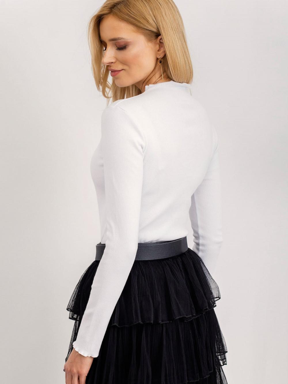 Biała bluzka z długim rękawem Shows 4