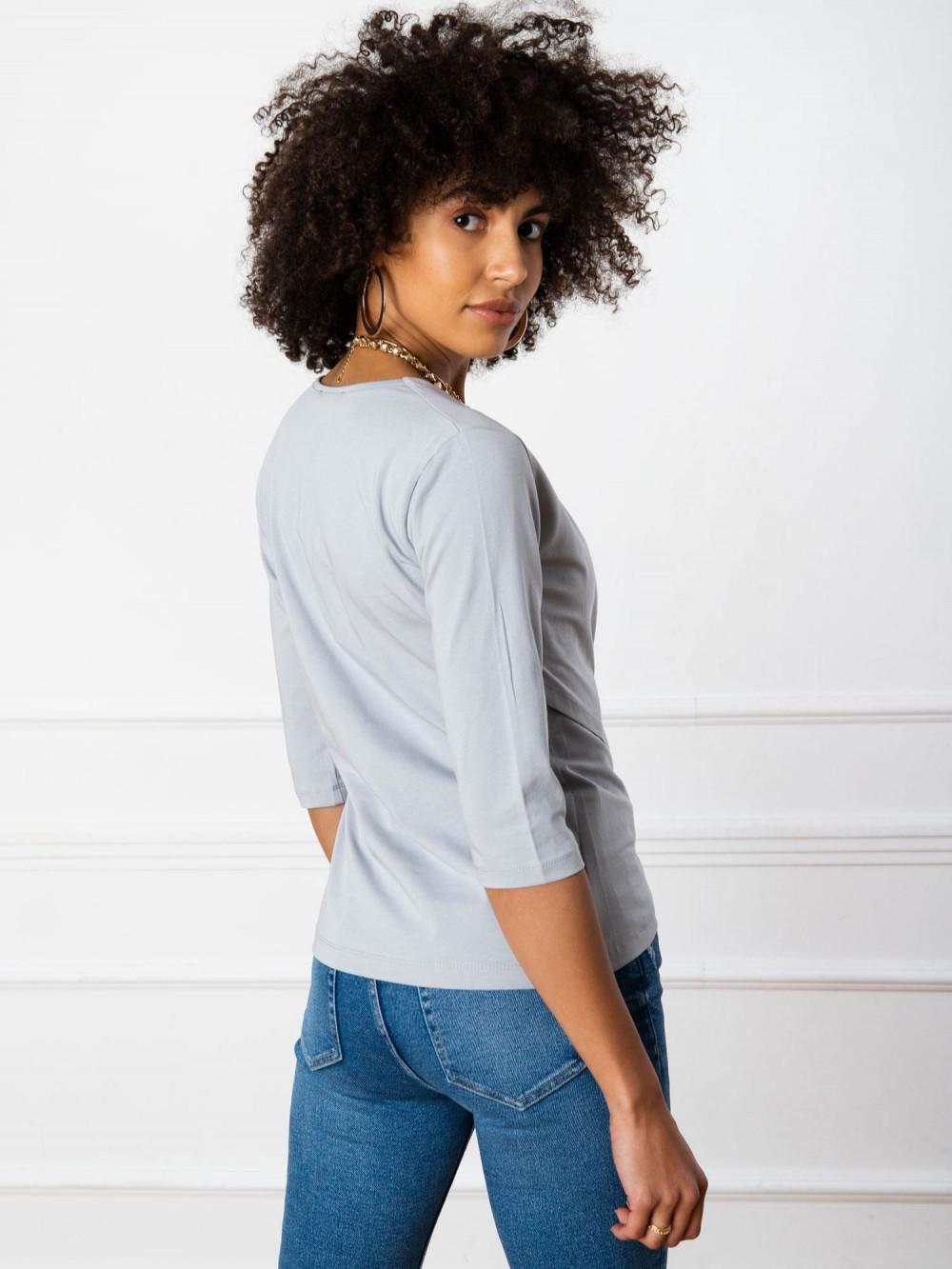 Szara asymetryczna bluzka przekładana Kotis 4