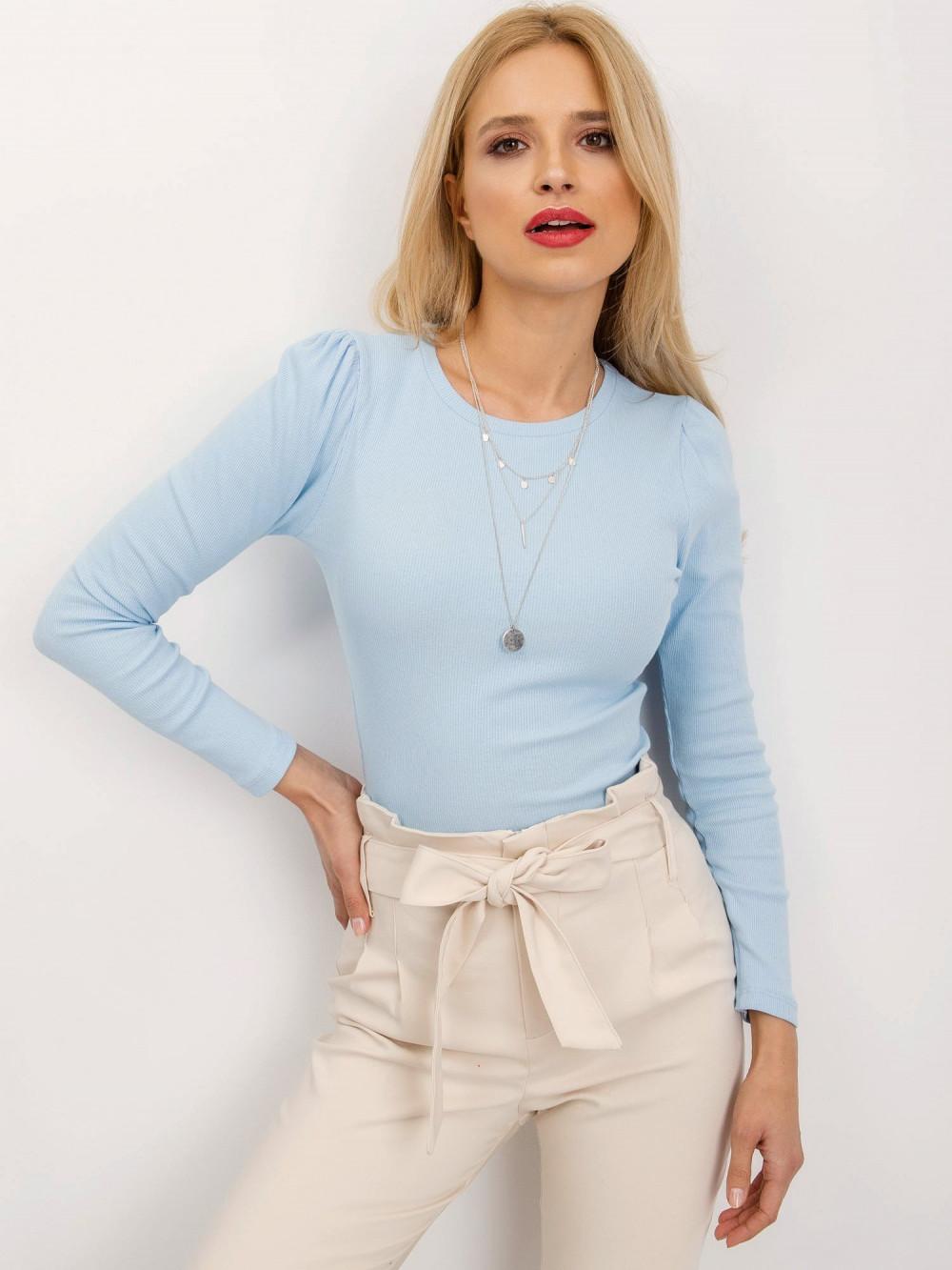 Jasnoniebieska bluzka z bufkami Loste 1
