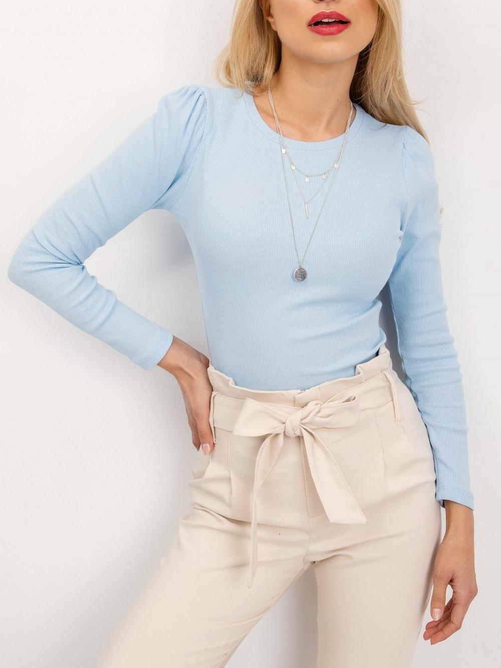 Jasnoniebieska bluzka z bufkami Loste 3