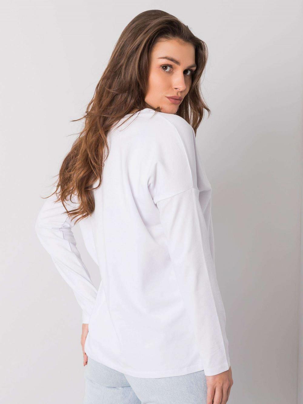 Biała luźna bluzka V-Neck Brooke 5