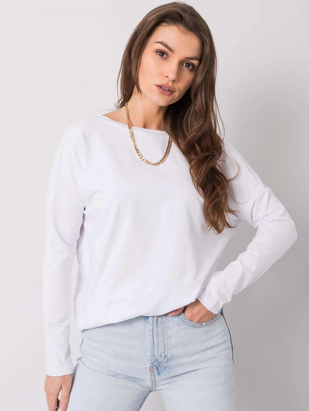 Biała luźna bluzka V-Neck Brooke 4