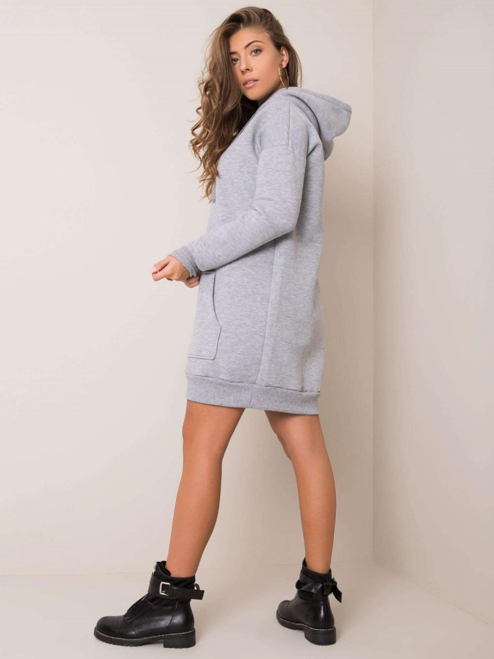 Szara sukienka bluza kangur Detroit 2