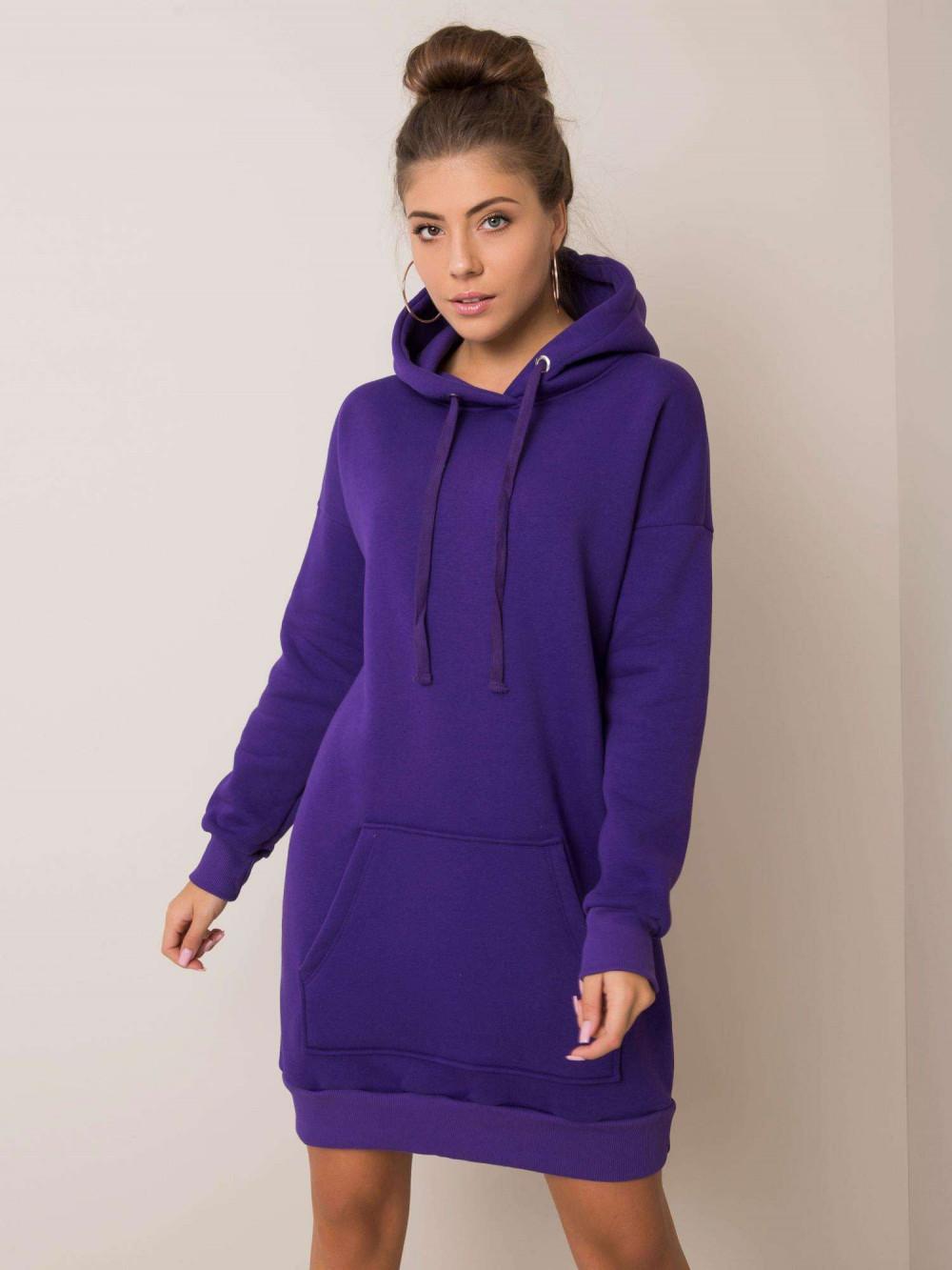 Fioletowa sukienka bluza kangur Detroit 1