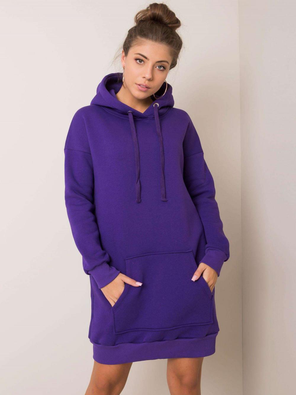 Fioletowa sukienka bluza kangur Detroit 2