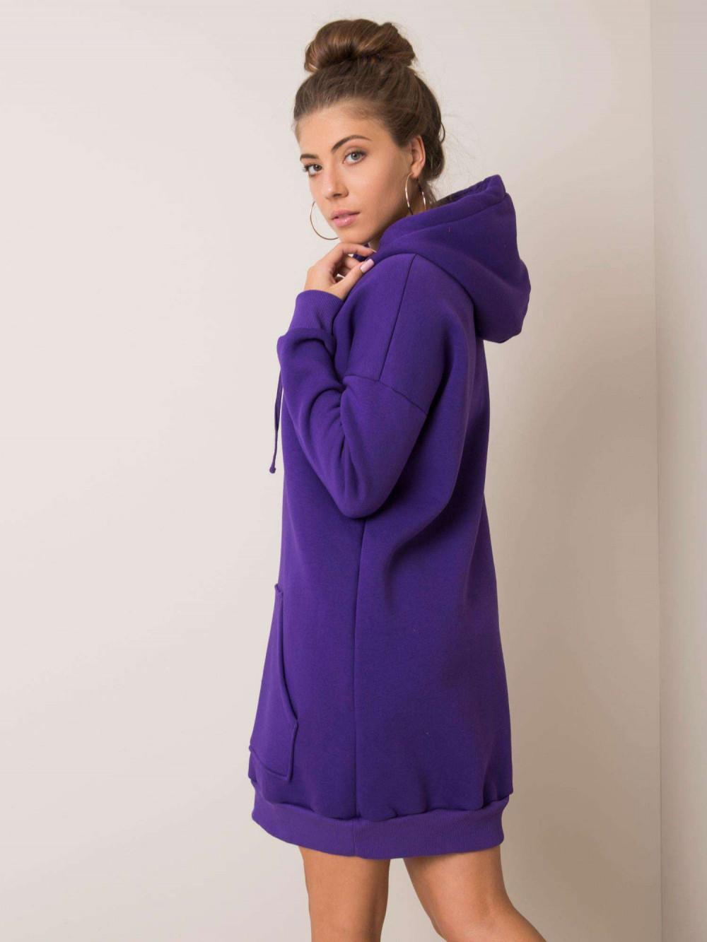 Fioletowa sukienka bluza kangur Detroit 3