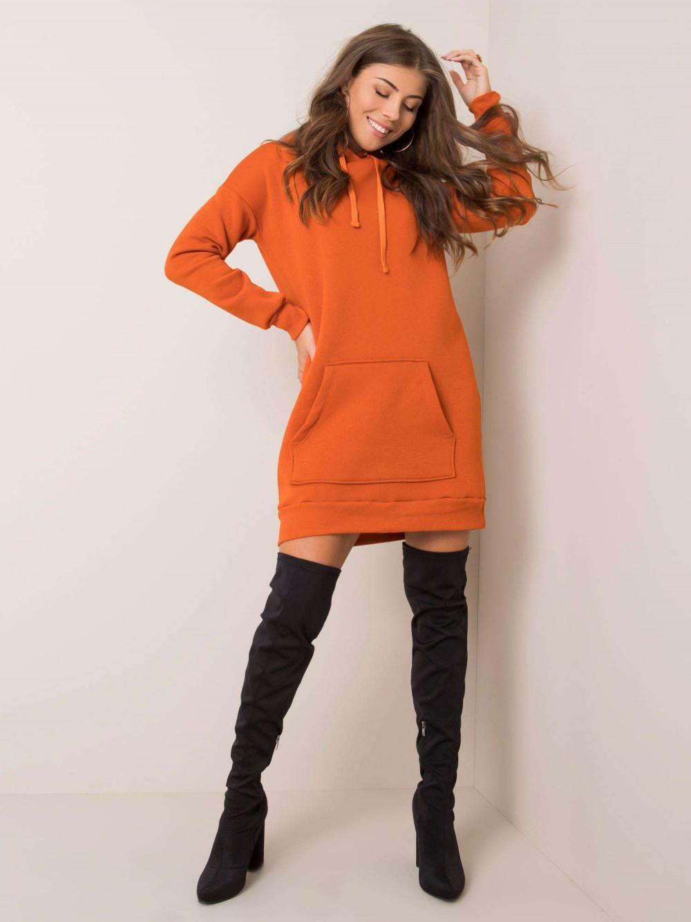 Pomarańczowa sukienka bluza kangur Detroit 1