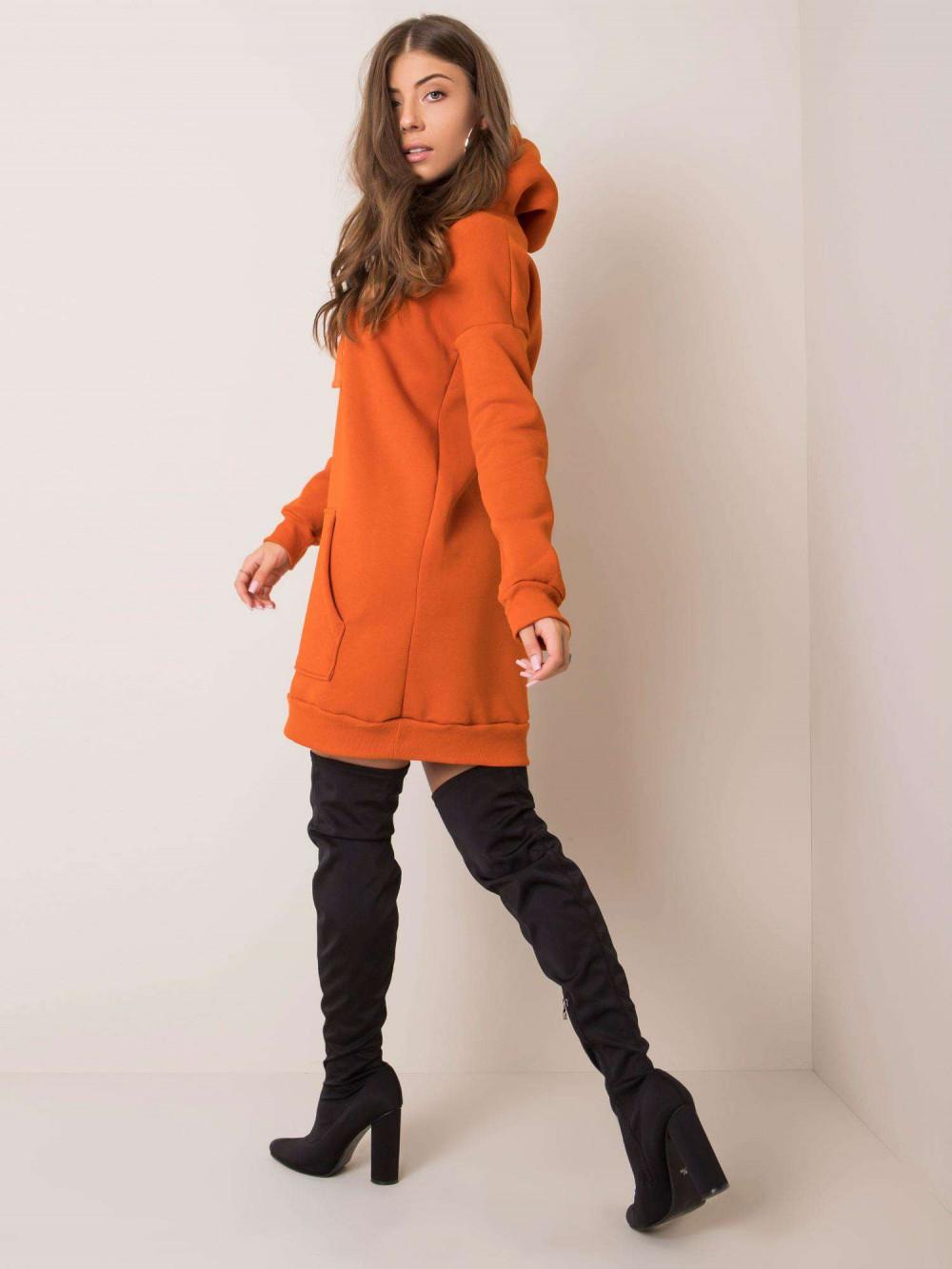 Pomarańczowa sukienka bluza kangur Detroit 3
