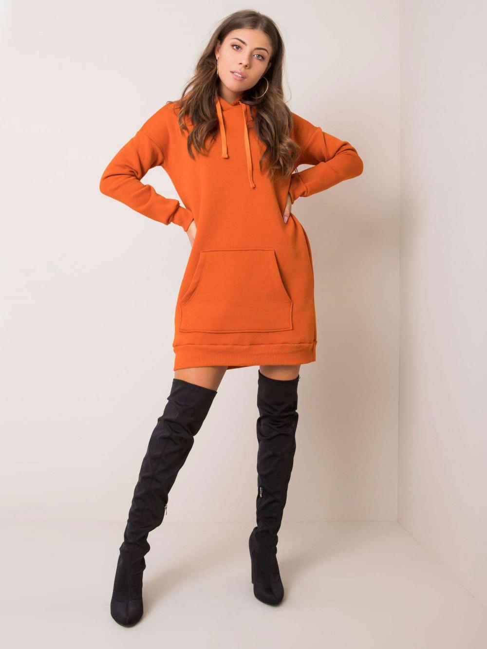 Pomarańczowa sukienka bluza kangur Detroit 2