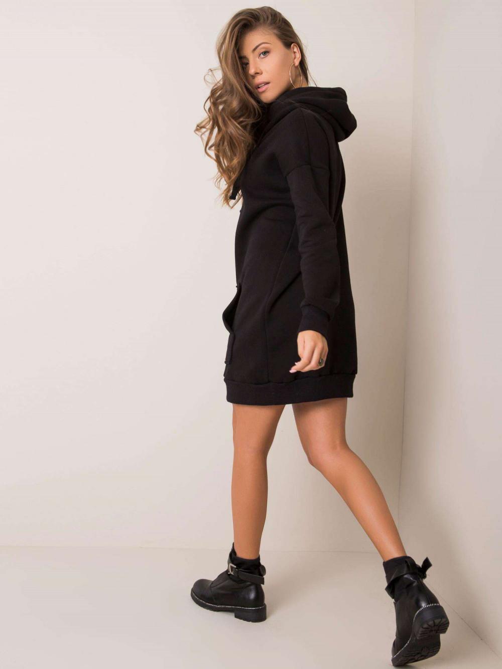 Czarna sukienka bluza kangur Detroit 2