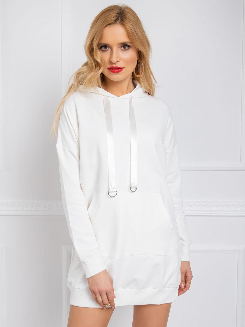 Ecru sukienka bluza z kapturem Lanes 1