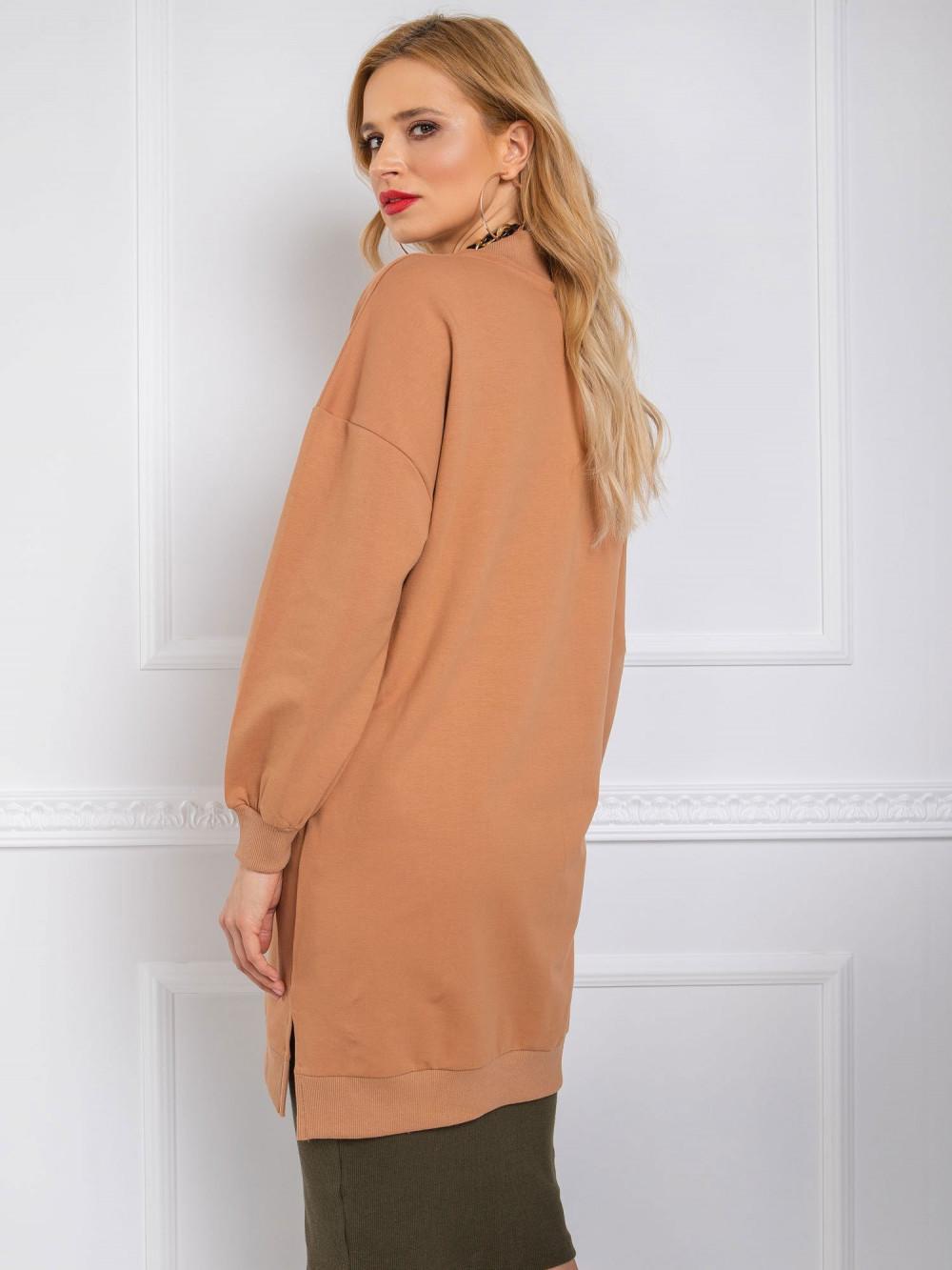 Brązowa sukienka bluza oversize Cullen 3