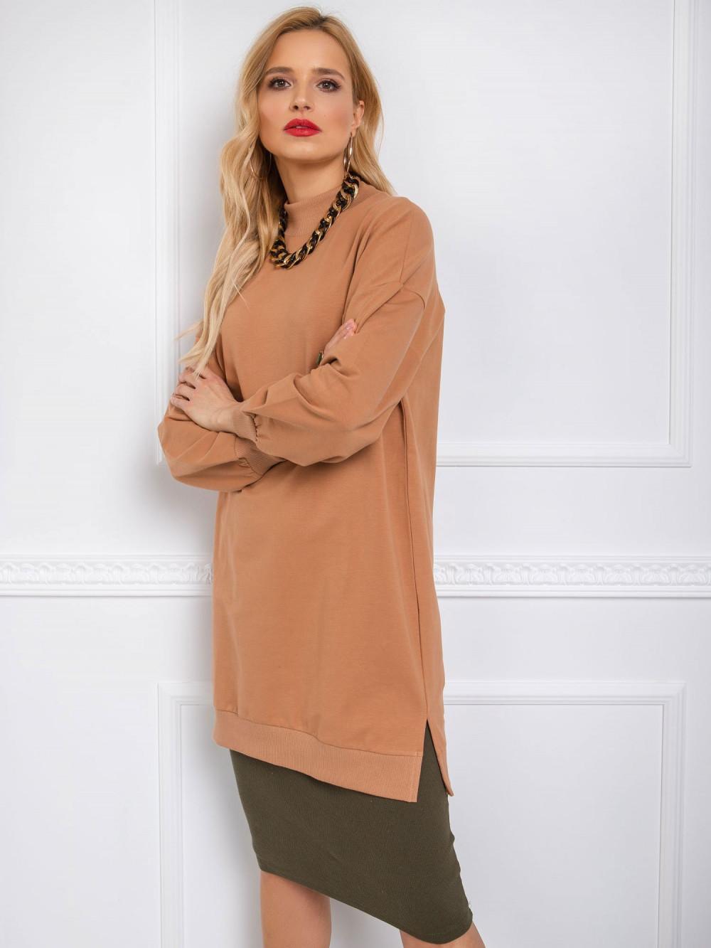 Brązowa sukienka bluza oversize Cullen 2