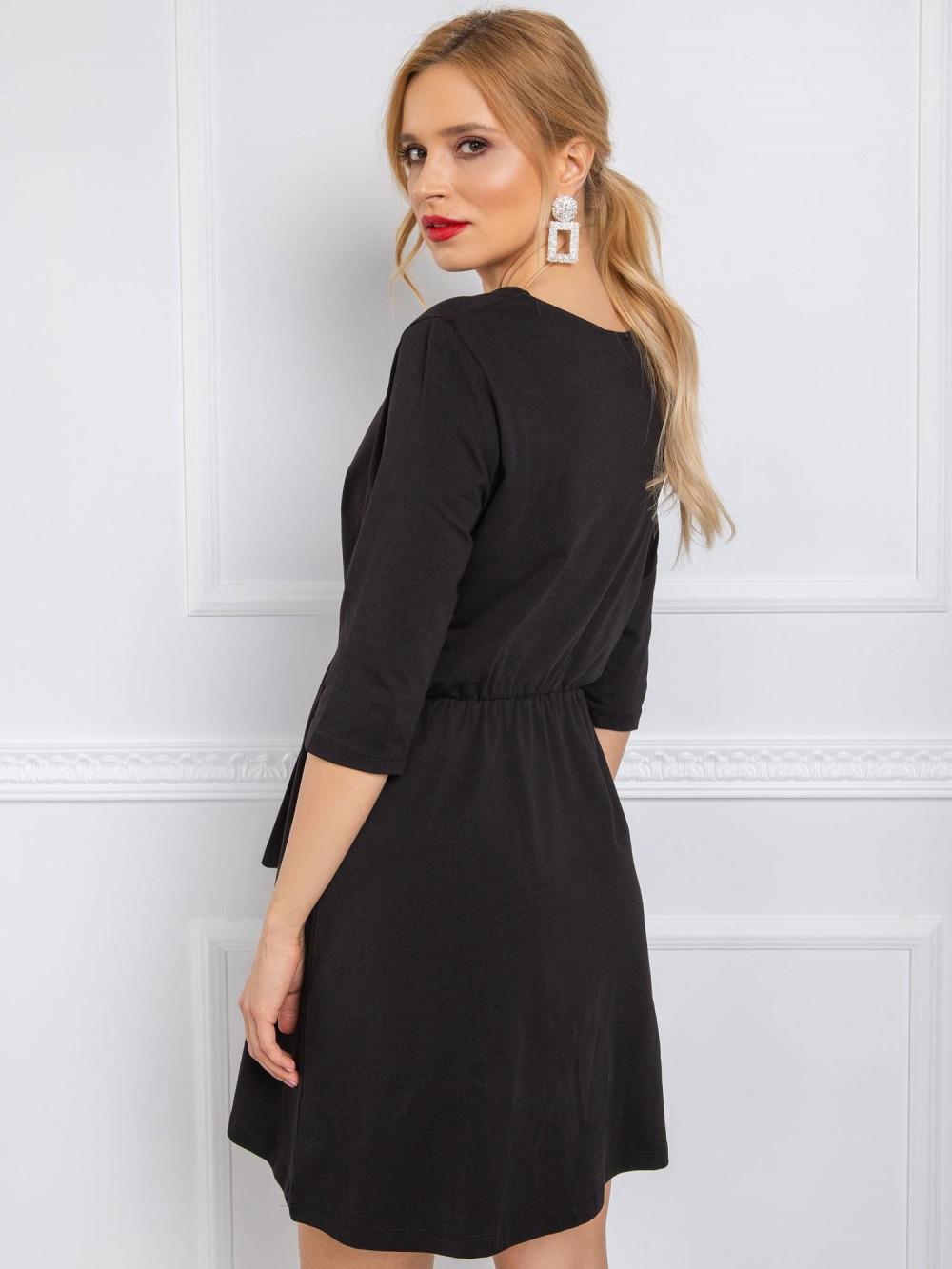 Czarna sukienka koszulowa z wiązaniem Houston 4