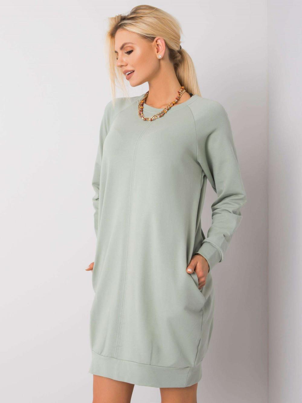 Pistacjowa sukienka bluza z kieszeniami Glove 3