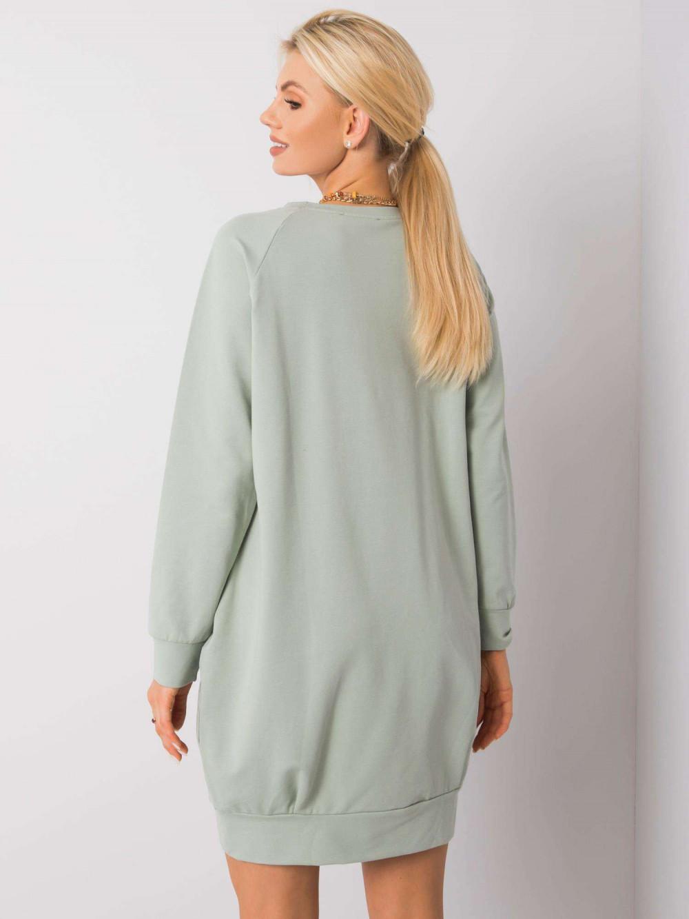 Pistacjowa sukienka bluza z kieszeniami Glove 4