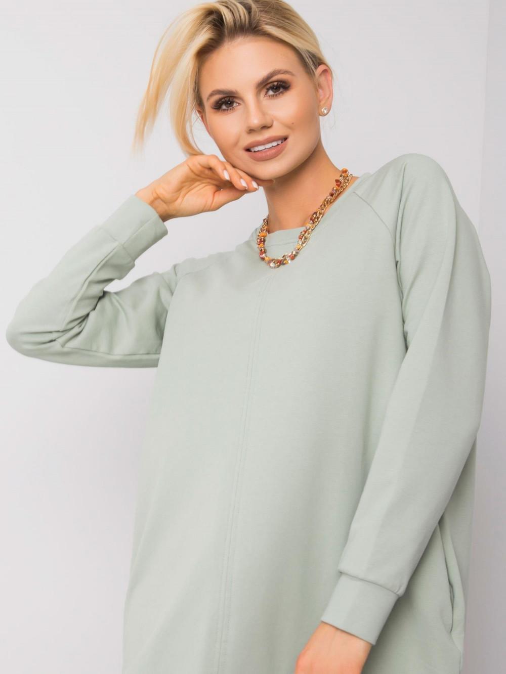 Pistacjowa sukienka bluza z kieszeniami Glove 2