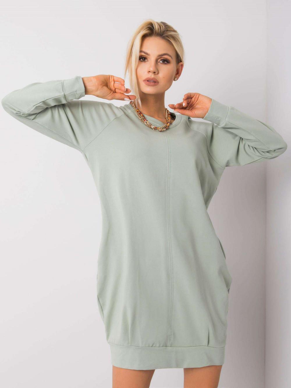 Pistacjowa sukienka bluza z kieszeniami Glove 1