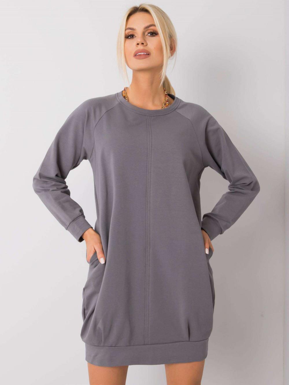 Ciemnoszara sukienka bluza z kieszeniami Glove 2
