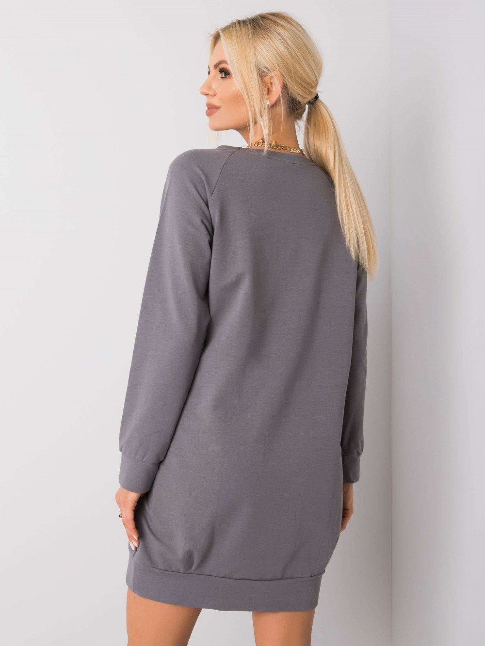 Ciemnoszara sukienka bluza z kieszeniami Glove 4