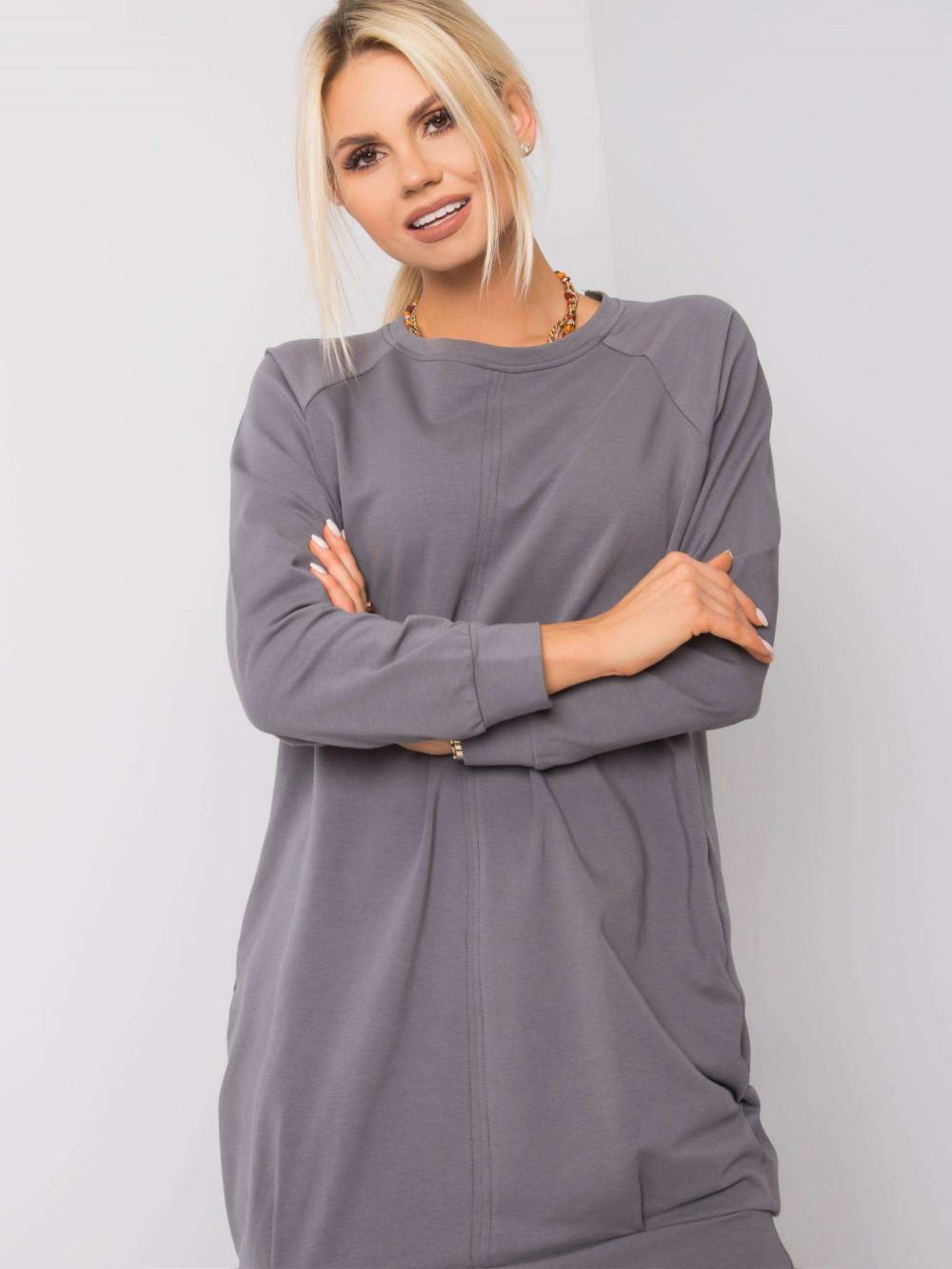 Ciemnoszara sukienka bluza z kieszeniami Glove 1
