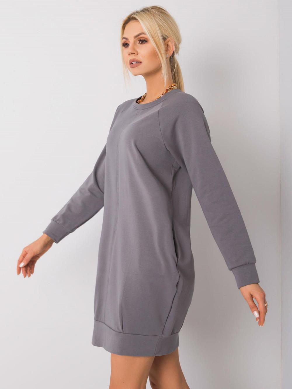 Ciemnoszara sukienka bluza z kieszeniami Glove 3