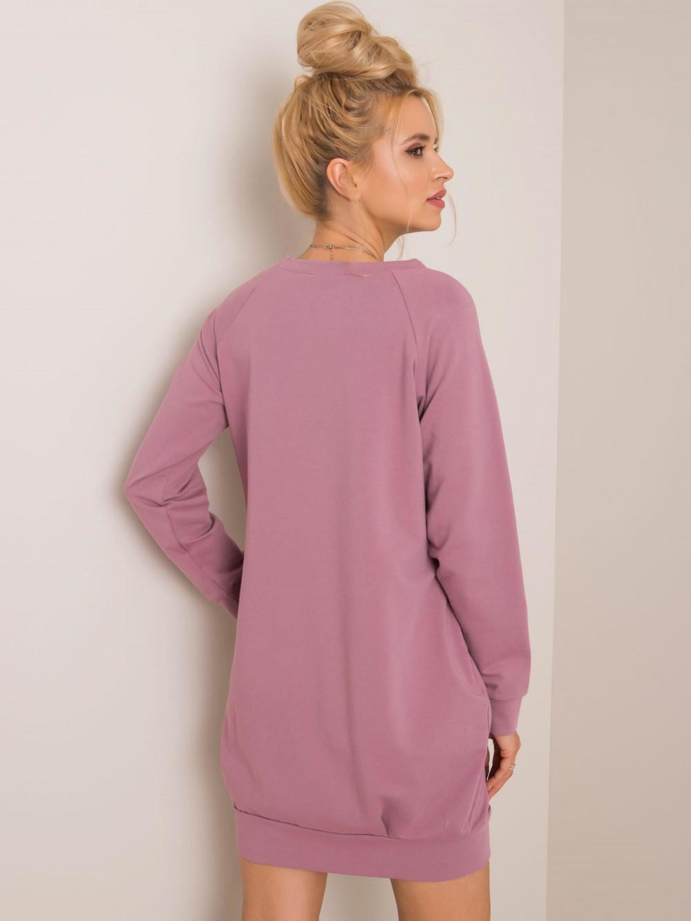 Brudnoróżowa sukienka bluza z kieszeniami Glove 3