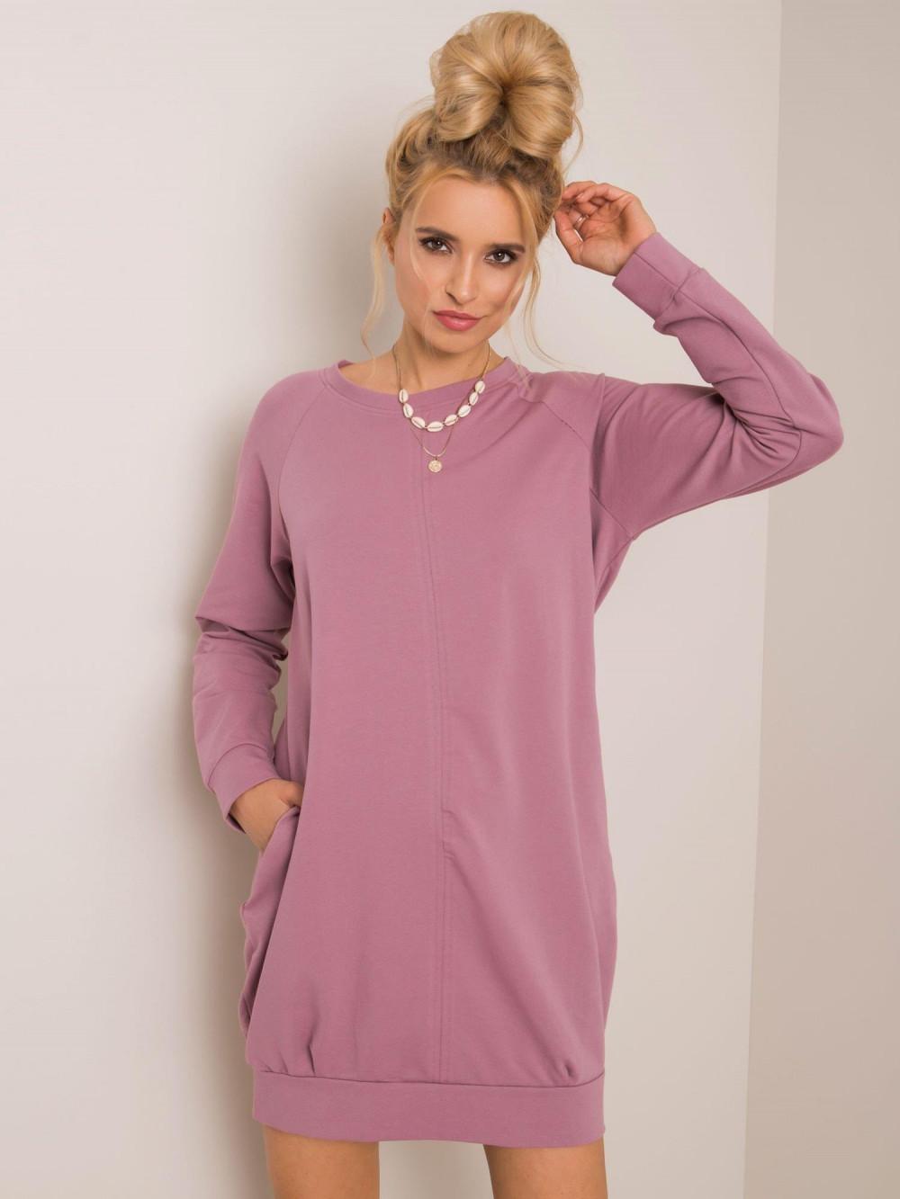Brudnoróżowa sukienka bluza z kieszeniami Glove 2