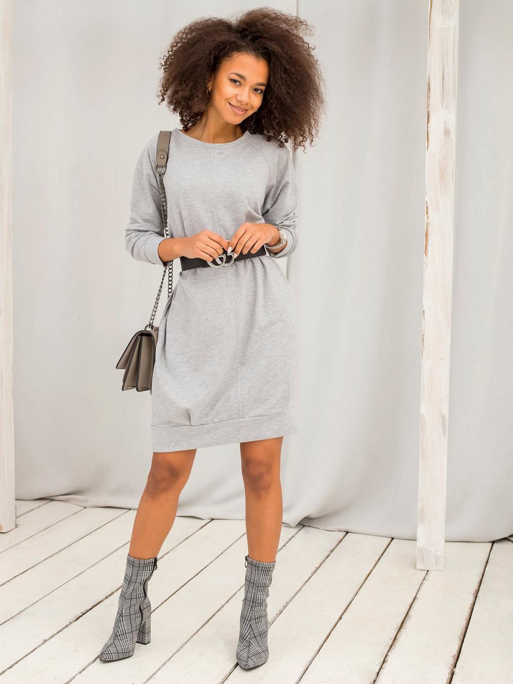 Szara sukienka bluza z kieszeniami Glove 5