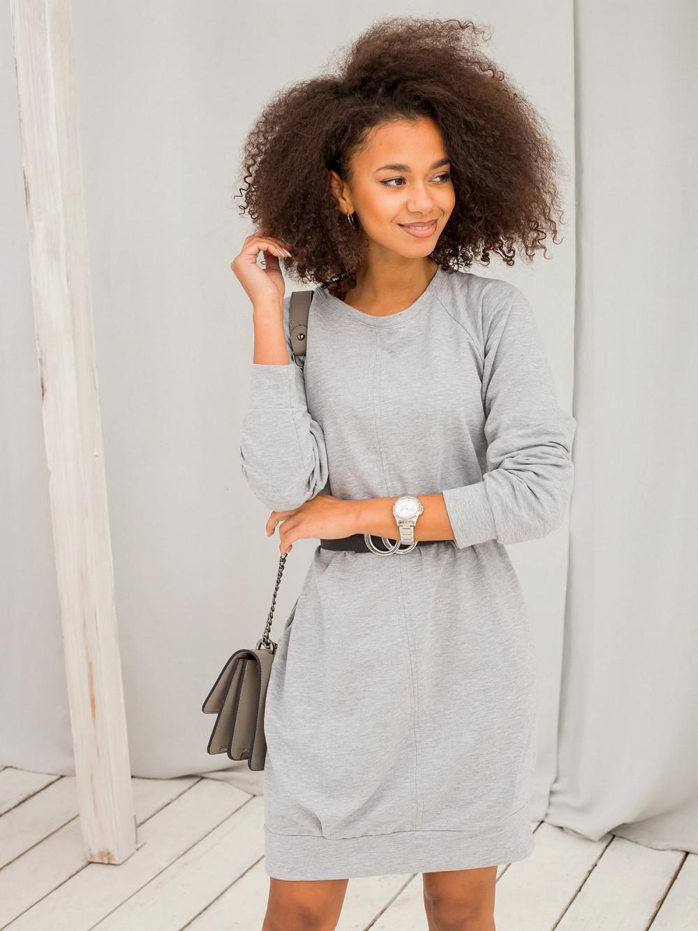 Szara sukienka bluza z kieszeniami Glove 2