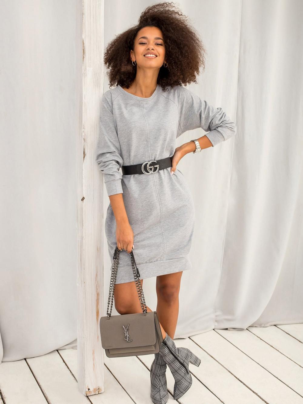 Szara sukienka bluza z kieszeniami Glove 6