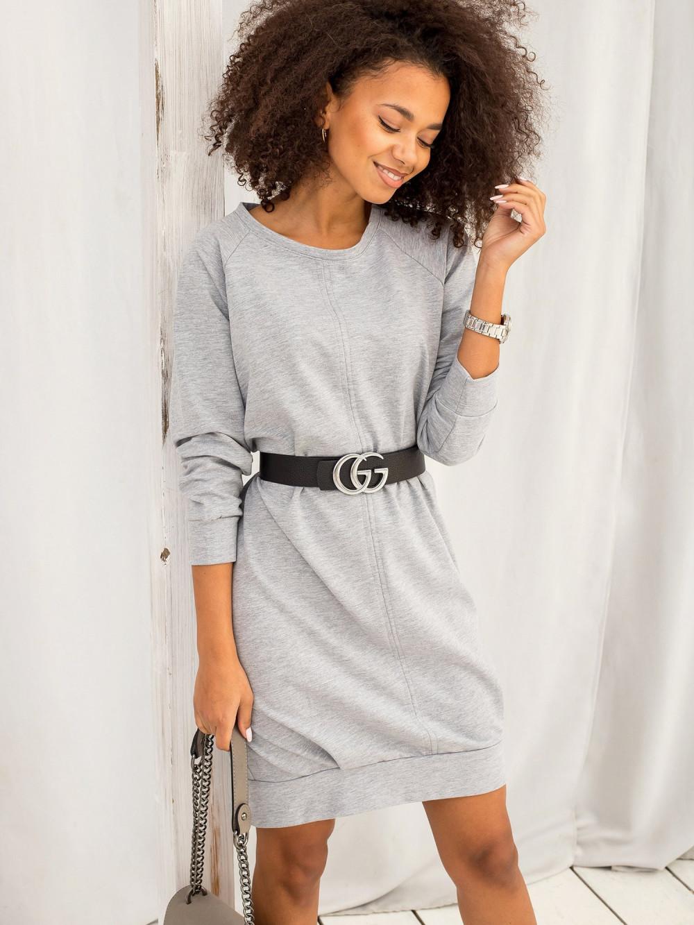 Szara sukienka bluza z kieszeniami Glove 3