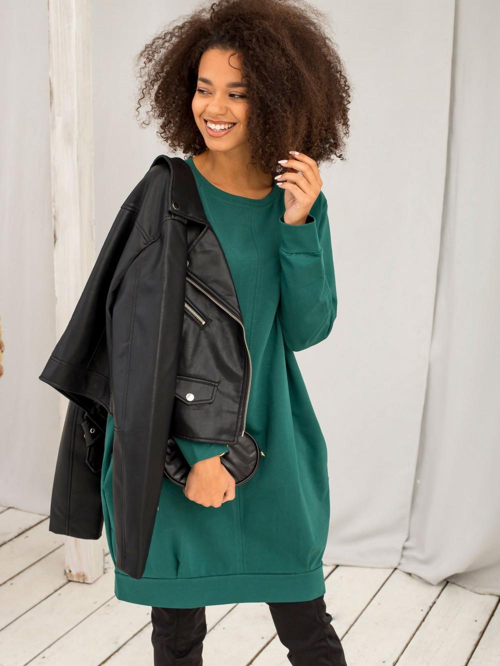 Ciemnozielona sukienka bluza z kieszeniami Glove 4